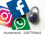 london  uk   february 8th 2019  ... | Shutterstock . vector #1307705662
