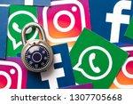 london  uk   february 8th 2019  ... | Shutterstock . vector #1307705668