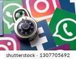 london  uk   february 8th 2019  ... | Shutterstock . vector #1307705692