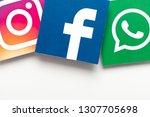 london  uk   february 8th 2019  ... | Shutterstock . vector #1307705698