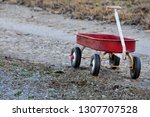 Vintage  worn little red wagon...