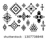 aztec  tribal shapes  symbols... | Shutterstock .eps vector #1307738848