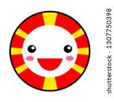 kawaii macedonia flag smile.... | Shutterstock .eps vector #1307750398