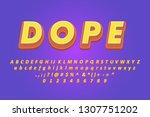 realistic 3d cartoon text... | Shutterstock .eps vector #1307751202