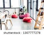 modern design of spacious loft... | Shutterstock . vector #1307777278