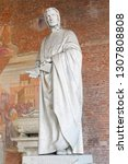 statue of mathematician... | Shutterstock . vector #1307808808