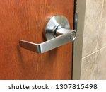 door knob handle wood open... | Shutterstock . vector #1307815498