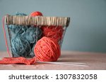 color thread for knitting. yarn ... | Shutterstock . vector #1307832058