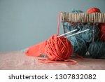 color thread for knitting. yarn ... | Shutterstock . vector #1307832082