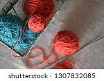 color thread for knitting. yarn ... | Shutterstock . vector #1307832085