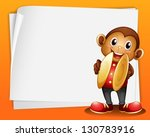 Illustration Of A Monkey With...