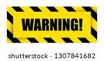 warning sign icon. vector... | Shutterstock .eps vector #1307841682