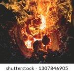 heating of horseshooe. mobile... | Shutterstock . vector #1307846905