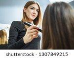 makeup artist creating...   Shutterstock . vector #1307849215