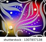 3d jewelry diamonds vector...   Shutterstock .eps vector #1307857138