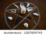 meditation grid kit. quartz... | Shutterstock . vector #1307859745