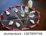 meditation grid kit. quartz... | Shutterstock . vector #1307859748