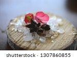 healing crystals  clear quartz  ... | Shutterstock . vector #1307860855