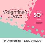 creative poster  banner or... | Shutterstock . vector #1307895208
