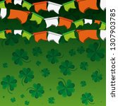 pattern of clovers with... | Shutterstock .eps vector #1307903785