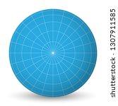 blank planet earth blue globe... | Shutterstock .eps vector #1307911585