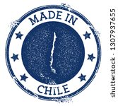 made in chile stamp. grunge... | Shutterstock .eps vector #1307937655