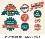 set of vector badges | Shutterstock .eps vector #130794416