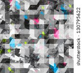 grunge geometric seamless... | Shutterstock .eps vector #130795622