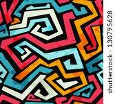 bright graffiti seamless... | Shutterstock .eps vector #130795628