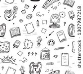 education vector background....   Shutterstock .eps vector #1307987218
