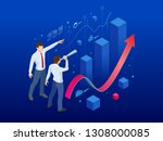 isometric affiliate business ... | Shutterstock .eps vector #1308000085