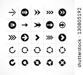 25 arrow sign icon set 04 ...