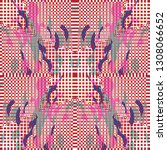 quirky tapestry pattern.... | Shutterstock .eps vector #1308066652