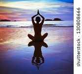yoga on the beach  abstract... | Shutterstock . vector #130808666