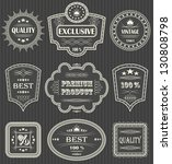 vintage labels. striped... | Shutterstock . vector #130808798