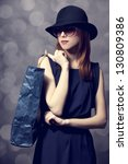 style redhead girl with... | Shutterstock . vector #130809386