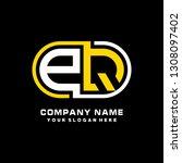 p q initial letter  modern logo ... | Shutterstock .eps vector #1308097402