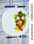salad with lettuce and tomato.... | Shutterstock . vector #1308122332