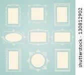 set of vector doodle frames.... | Shutterstock .eps vector #130812902
