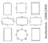 set of vector doodle frames.... | Shutterstock .eps vector #130812905