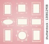 set of vector doodle frames.... | Shutterstock .eps vector #130812908