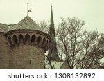 old tallinn skyline with stone... | Shutterstock . vector #1308132892