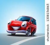 cute car illustration banner | Shutterstock .eps vector #1308156865
