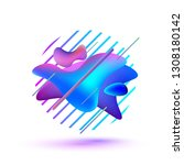 abstract colorful graphic... | Shutterstock .eps vector #1308180142