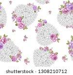 seamless duvet cover pattern... | Shutterstock . vector #1308210712