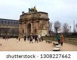 paris  france   2th february... | Shutterstock . vector #1308227662