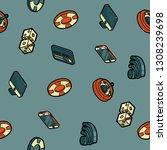 online casino color outline... | Shutterstock . vector #1308239698