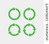 recycling flat vector icons set.... | Shutterstock .eps vector #1308244675