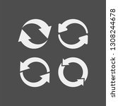 recycling flat vector icons set.... | Shutterstock .eps vector #1308244678