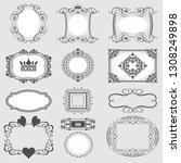 vintage frames set. decorative... | Shutterstock .eps vector #1308249898